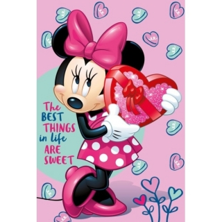 Fleece deka Minnie Pink 100/150